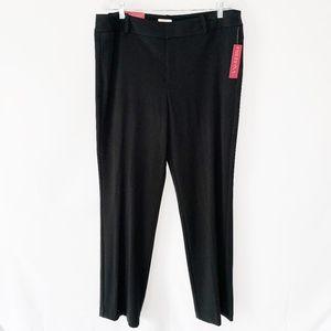 Merona Black Straight Leg Trousers
